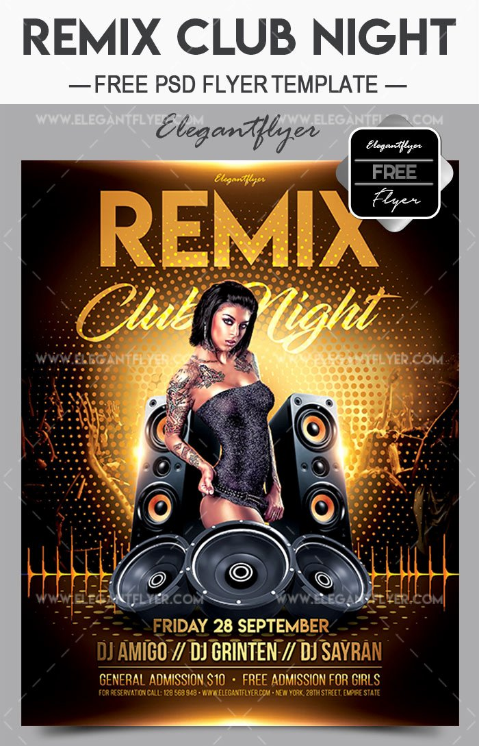 Night Club Flyer Template Unique 20 Exclusive Psd Flyer Templates for Night Clubs