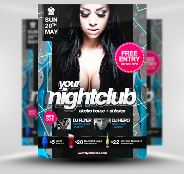 Night Club Flyer Template Unique 30 Amazing Free Flyer Templates From Flyerheroes Extras