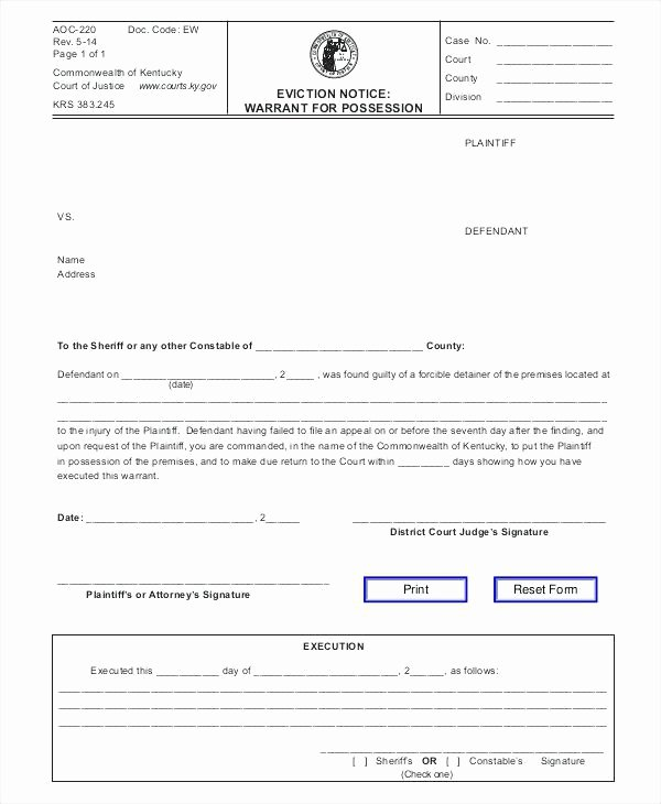 Nj Eviction Notice Template Elegant Free New Jersey Notice to Quit Notice to Cease