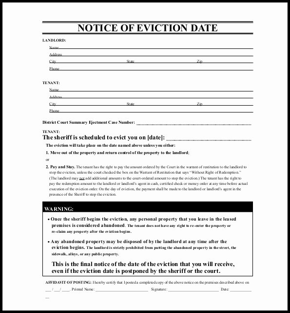 Nj Eviction Notice Template New 30 Day Eviction Notice Template Arizona Template