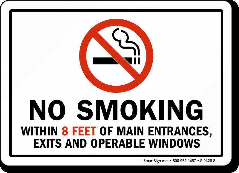 No Smoking Policy Template Awesome California No Smoking within 8 Feet Main Entrances Sign