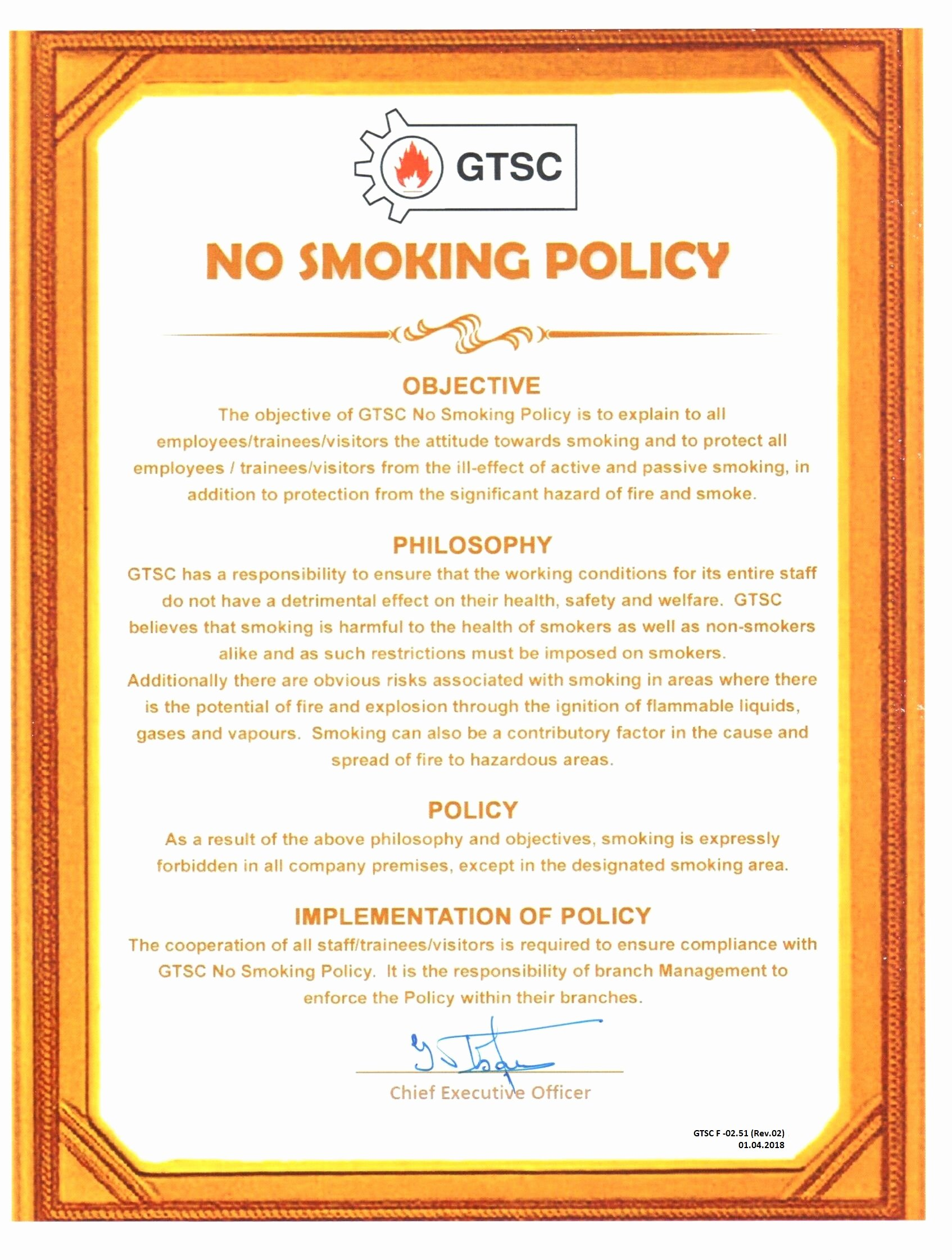 No Smoking Policy Template Fresh No Smoking Policy