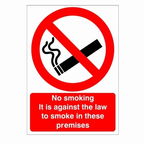 No Smoking Policy Template Luxury No Smoking Signs