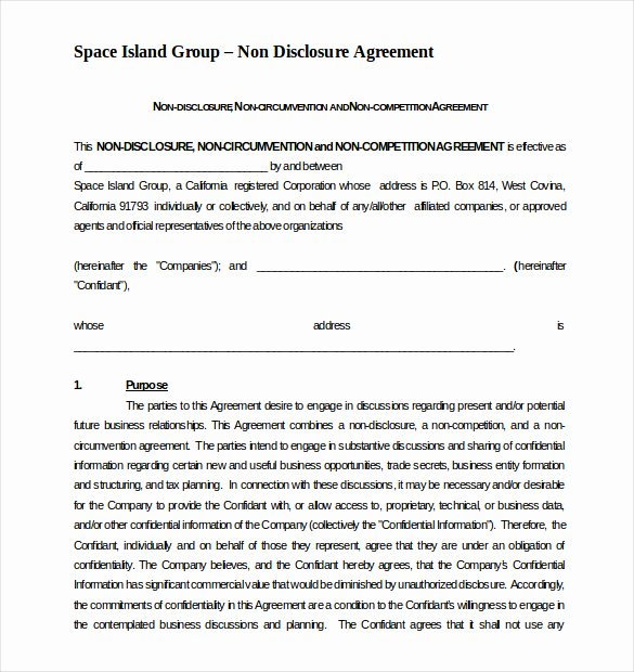 Non Compete Clause Template Beautiful 8 Non Pete Agreement Templates Doc Pdf