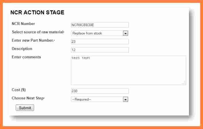 7 quality non conformance report template