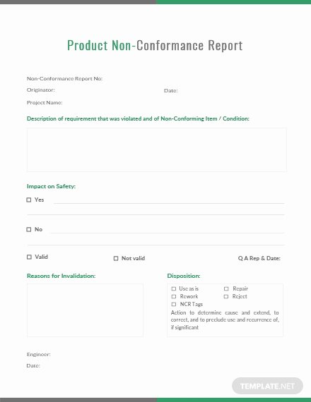 Non Conformance Report Template Luxury Audit Non Conformance Report Template Download 154