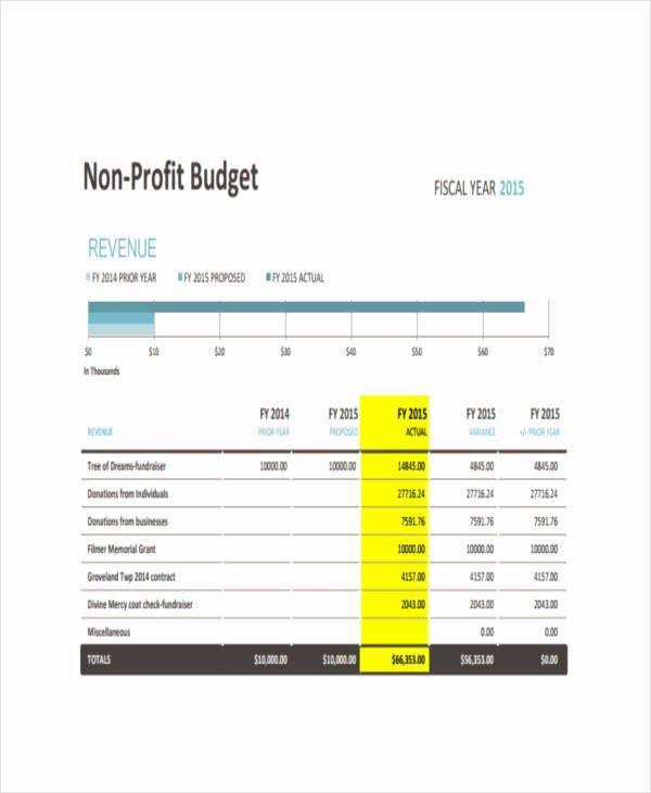 Non Profit Budget Template New 6 Nonprofit Bud Templates Pdf