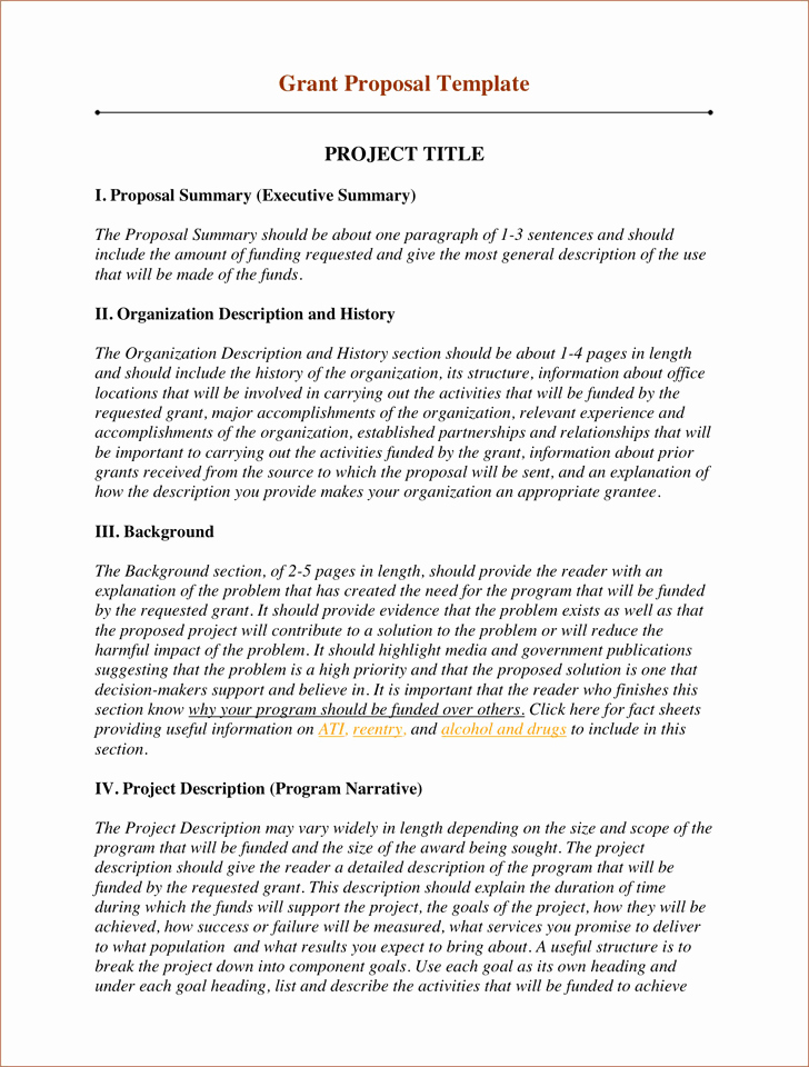 Non Profit Proposal Template Awesome Grant Proposal Template 2