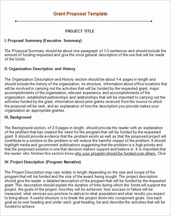 Non Profit Proposal Template Elegant 13 Sample Grant Proposal Templates to Download for Free