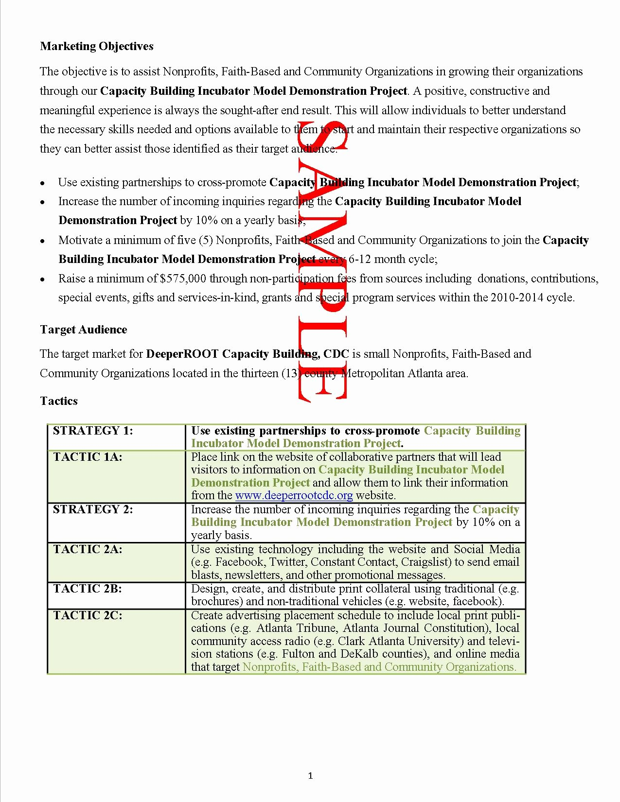 Non Profit Proposal Template New 10 Best Of Recruitment Sample Proposal
