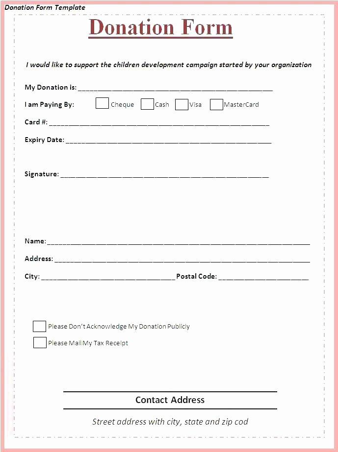 Non Profit Receipt Template Beautiful Free Non Profit Donation form Template Receipt