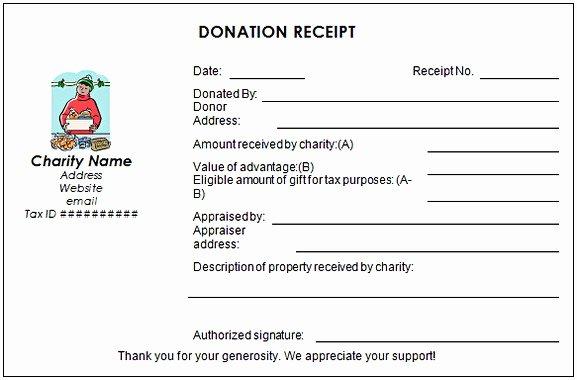 Non Profit Receipt Template Beautiful Non Profit Donation Receipt Template