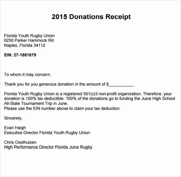 Non Profit Receipt Template Inspirational 10 Fundraiser Receipt Templates