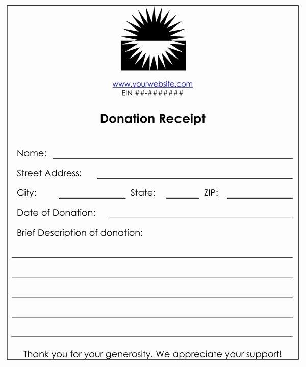 Non Profit Receipt Template Luxury Non Profit Donation Receipt
