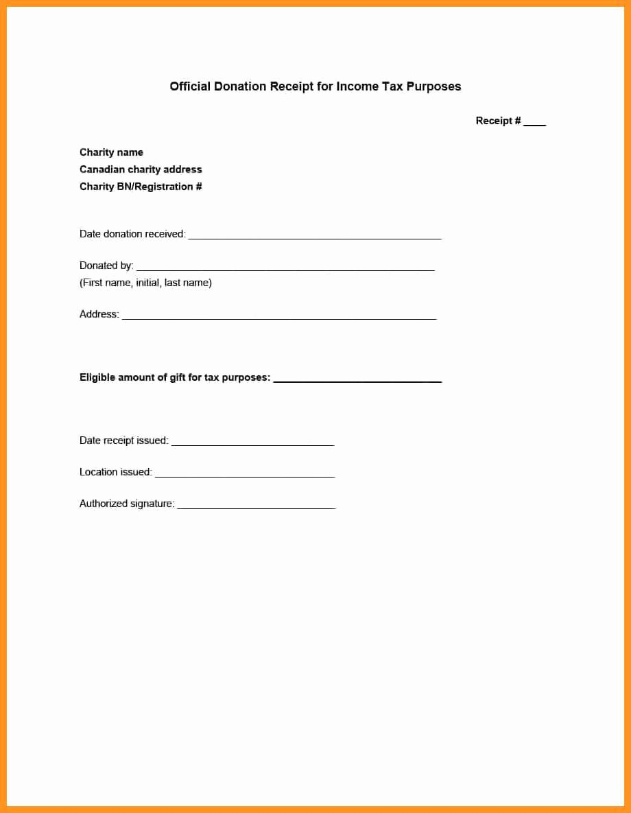 Non Profit Receipt Template New 5 6 Non Profit Donation Receipt Letter