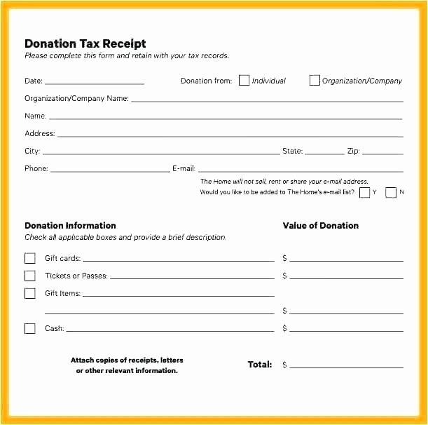 Non Profit Receipt Template Unique Donation Invoice Template Donation Receipt Template Free