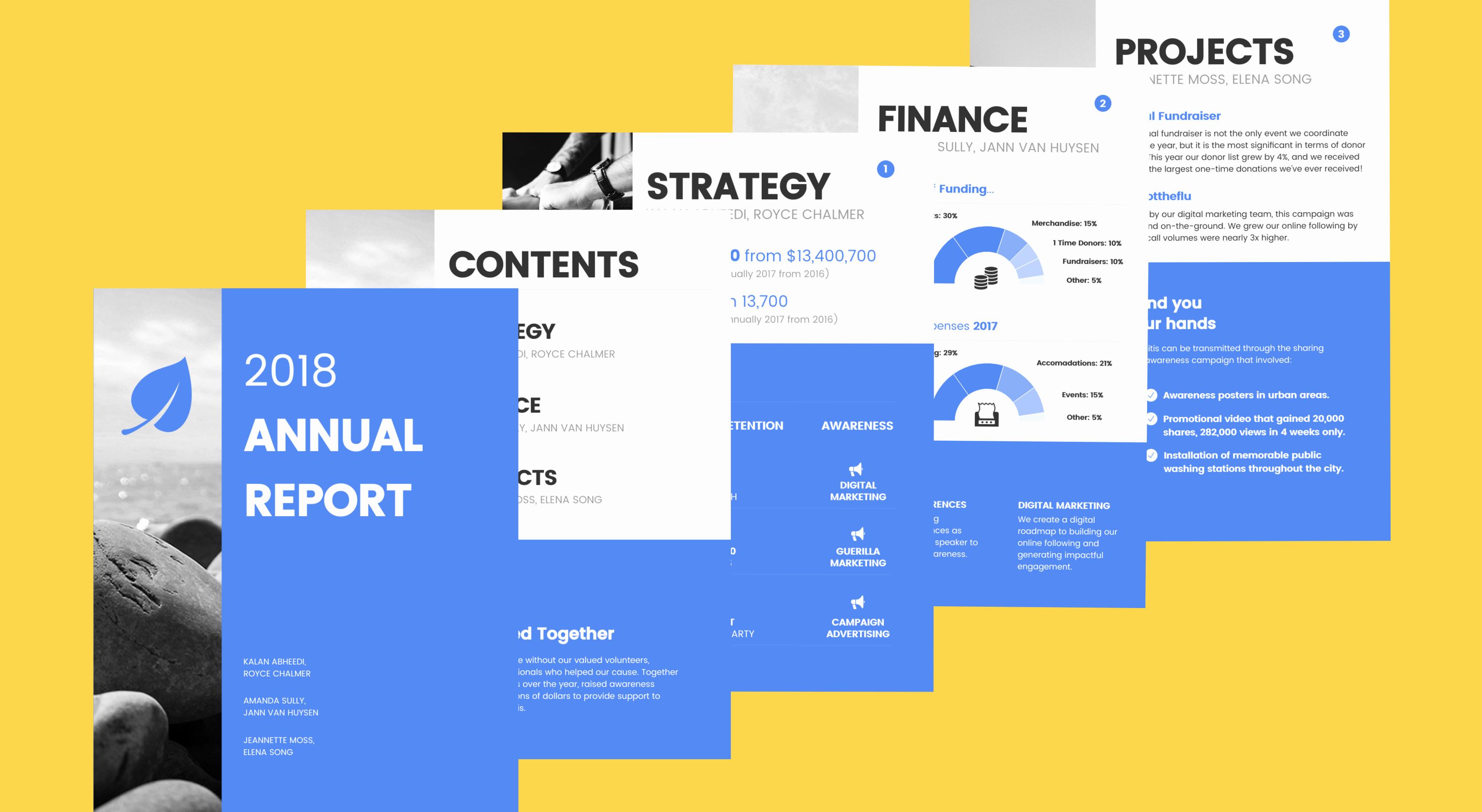 Nonprofit Annual Report Template Beautiful 55 Customizable Annual Report Templates Examples & Tips