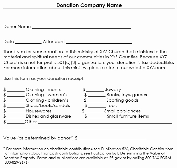 Nonprofit Donation Receipt Template Inspirational Donation Receipt Template 12 Free Samples In Word and Excel