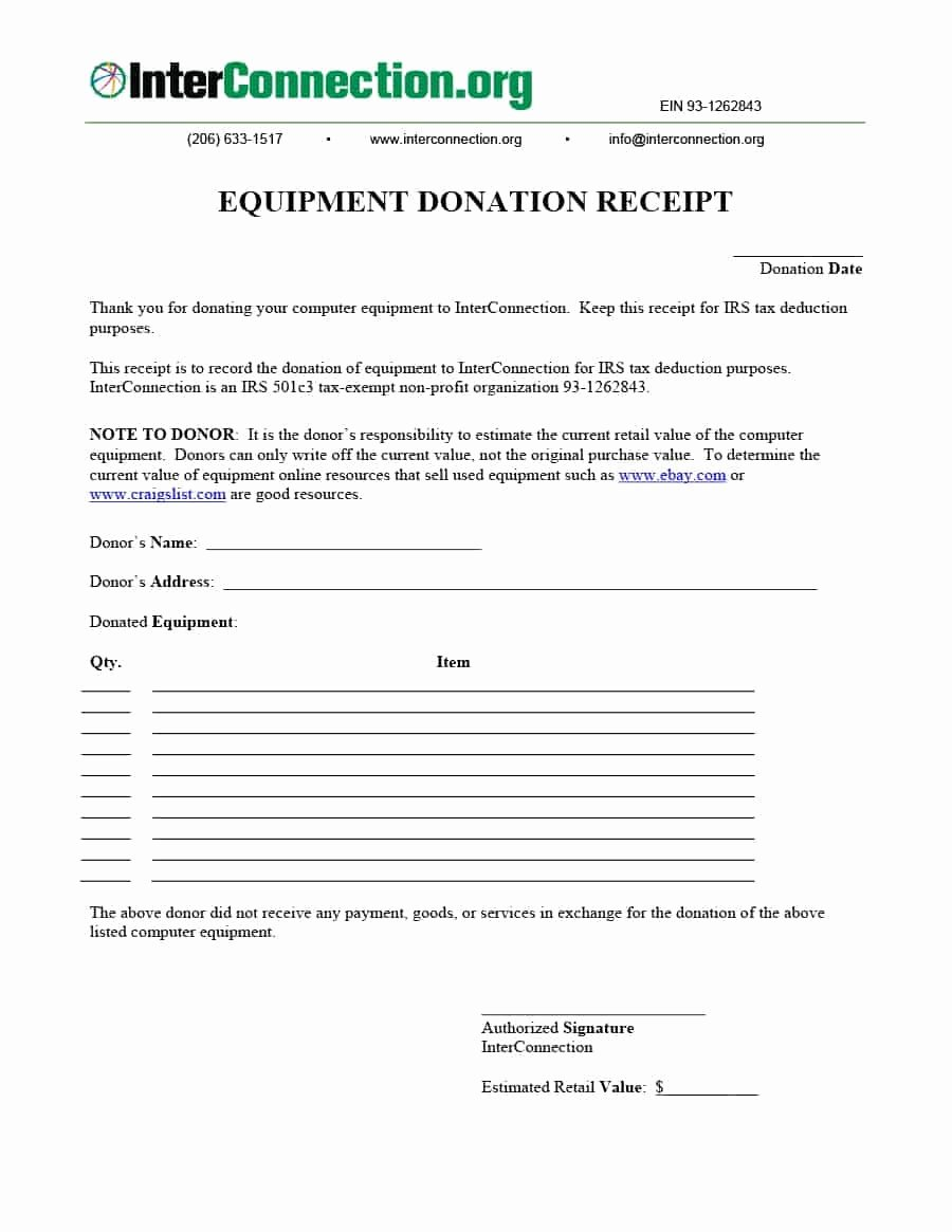 Nonprofit Donation Receipt Template Lovely 40 Donation Receipt Templates & Letters [goodwill Non Profit]