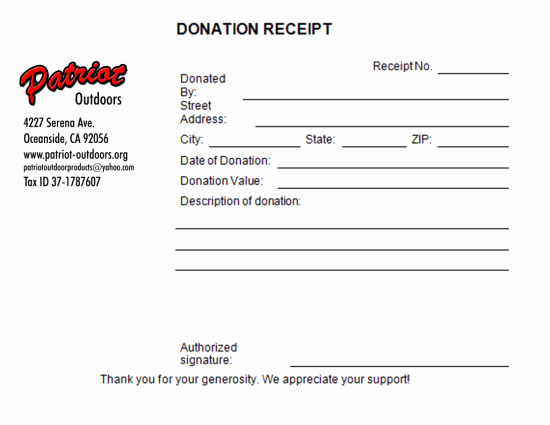 Nonprofit Donation Receipt Template Luxury 5 Charitable Donation Receipt Templates Free Sample