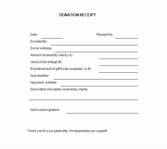 Nonprofit Donation Receipt Template Unique 15 Nonprofit Donation Receipt Template
