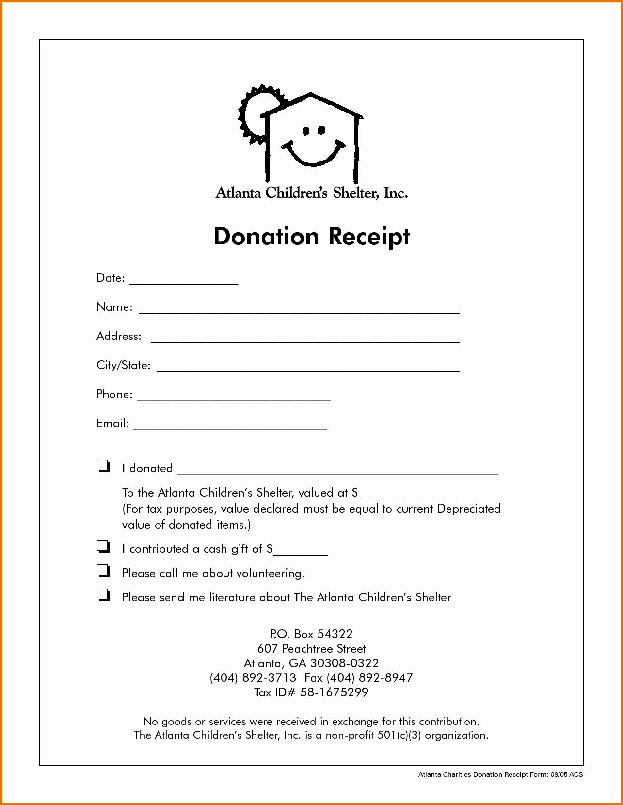 Nonprofit Donation Receipt Template Unique Non Profit Donation Receipt Templatereference Letters