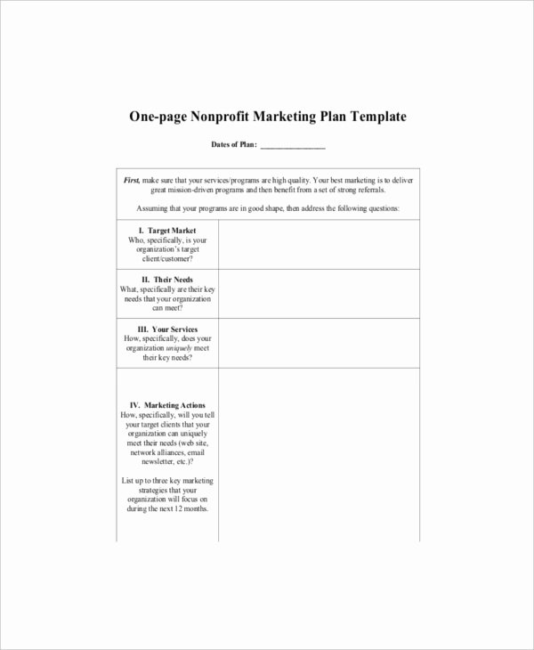 Nonprofit Marketing Plan Template Beautiful 7 E Page Marketing Templates – Free Sample Example