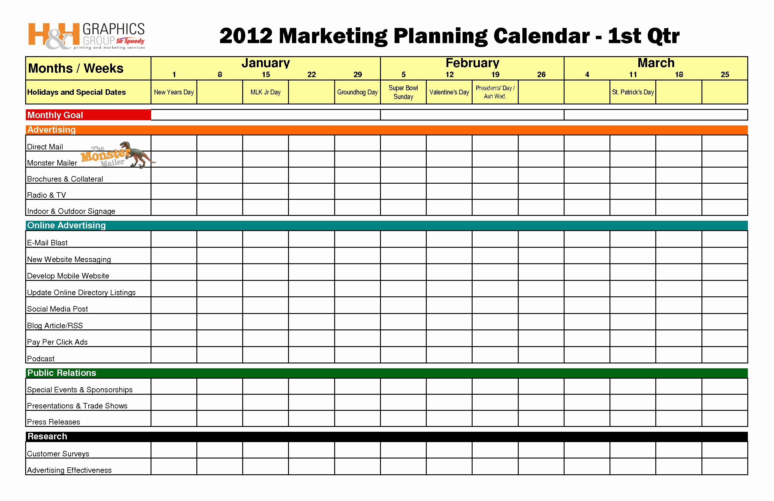 Nonprofit Marketing Plan Template Fresh Quarterly Marketing Plan Bing Images