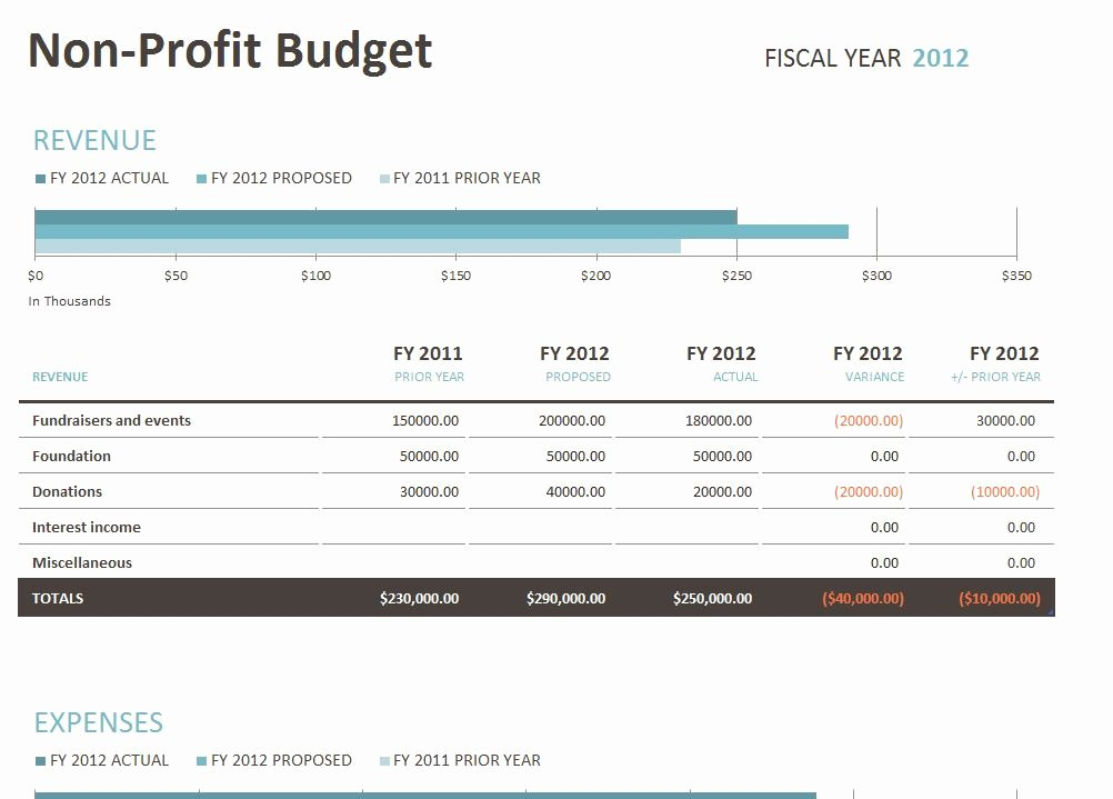 Nonprofit Operating Budget Template Inspirational Non Profit Bud Template