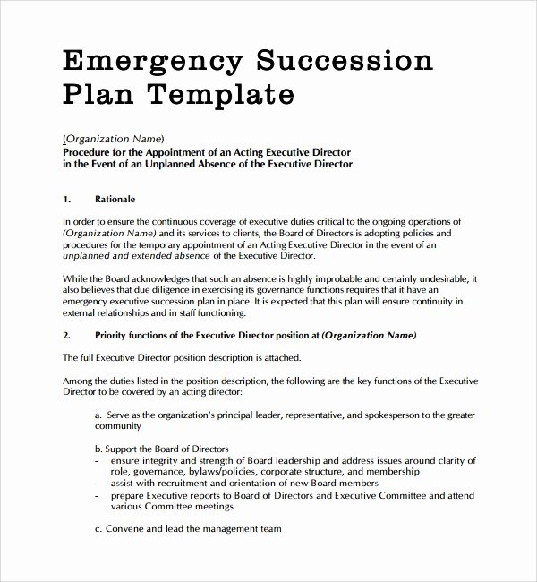 Nonprofit Succession Planning Template Inspirational 10 Succession Planning Templates