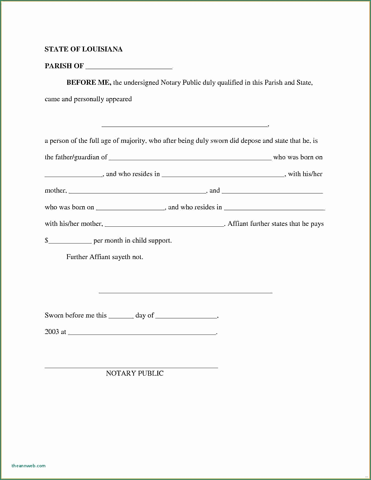 Notarized Custody Agreement Template Fresh Sample A Notarized Document Example Letter format