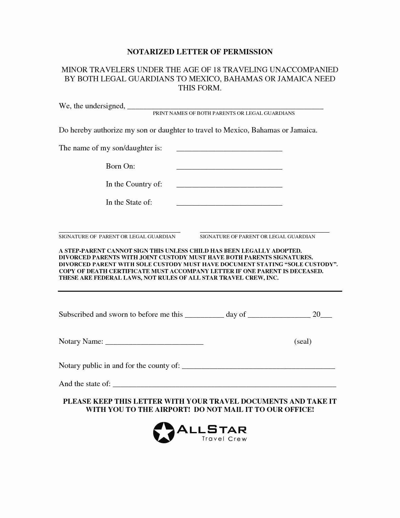 Notarized Custody Agreement Template Luxury Notarized Custody Agreement Template New 13 Inspirational