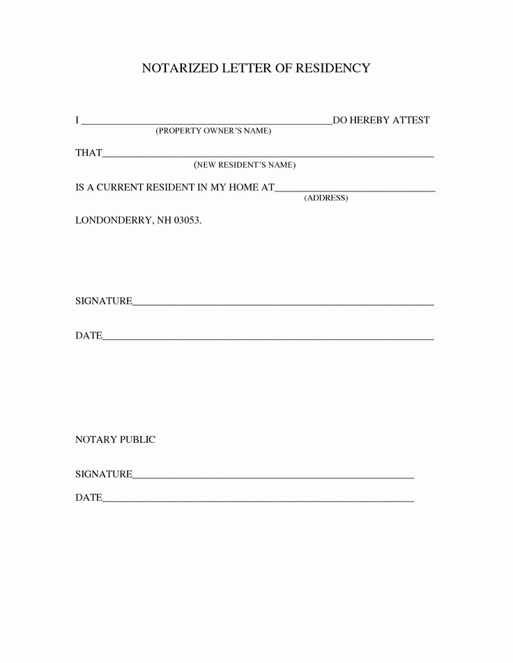 Notarized Letter Template Word Elegant Notary Letter Template