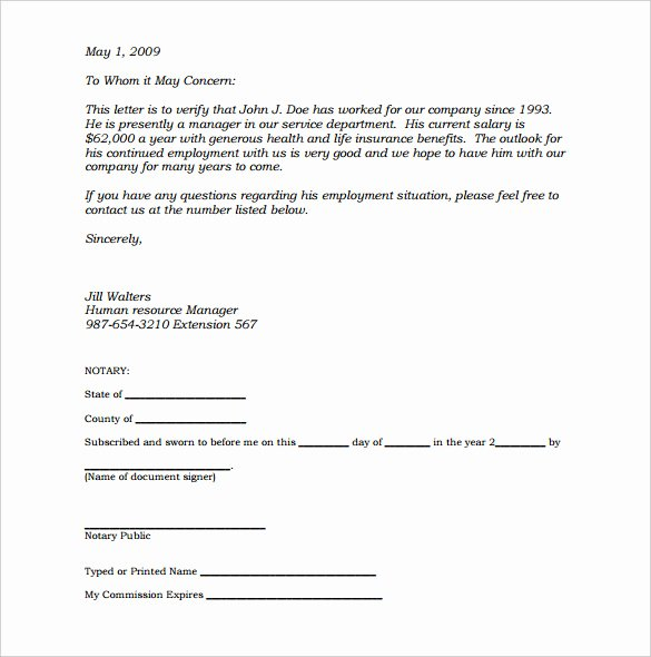 Notarized Letter Template Word Luxury 32 Notarized Letter Templates Pdf Doc