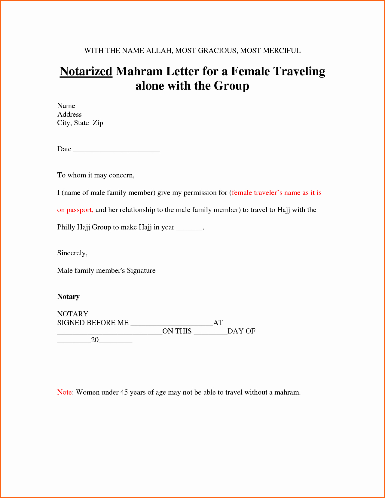 Notarized Letter Template Word Luxury 6 Notarized Letter Template Bud Template Letter