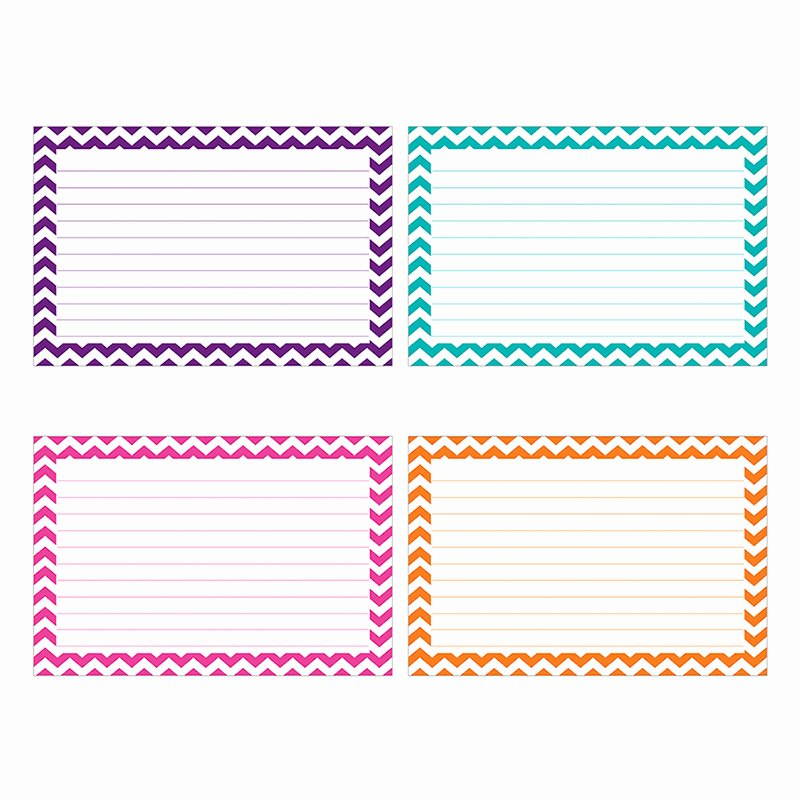 Note Card Template Free Elegant Border Index Cards 4 X 6 Lined Chevron by top Notch