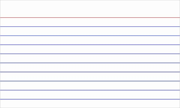Note Card Template Free Lovely Index Card Template