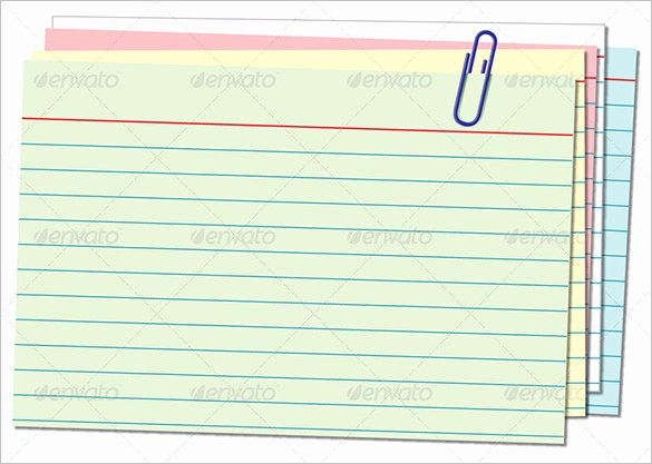 Note Card Template Free New 10 Index Card Templates Jpg Vector Eps Illustrator
