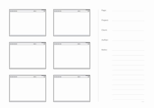 Note Taking Template Pdf Unique Free Printable Sketching Wireframing and Note Taking Pdf