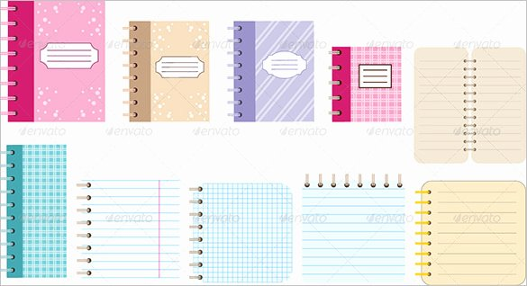 Notebook Template for Word Beautiful 13 Notebook Paper Templates – Free Eps Pdf Illustrator