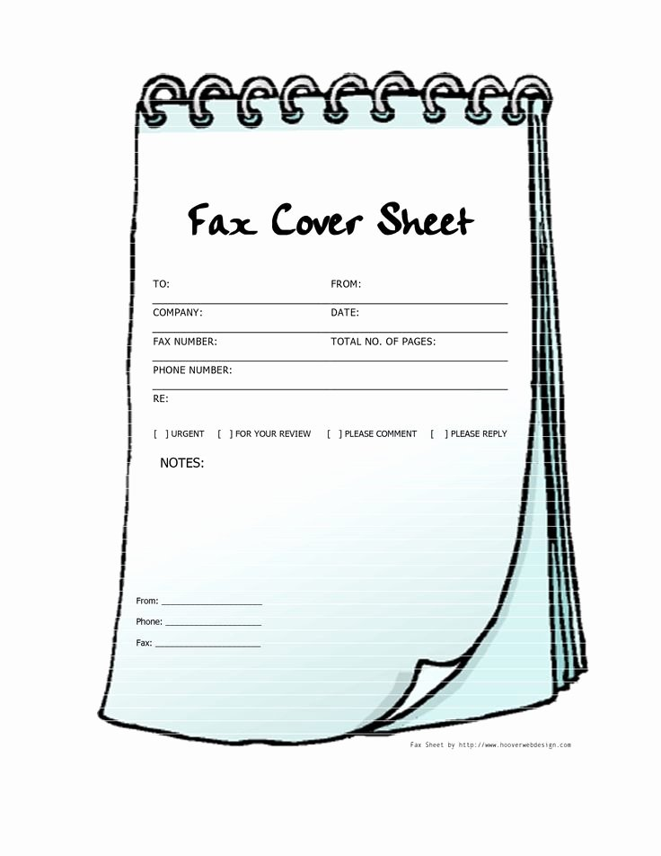 Notebook Template for Word Unique Free Printable Fax Cover Sheets