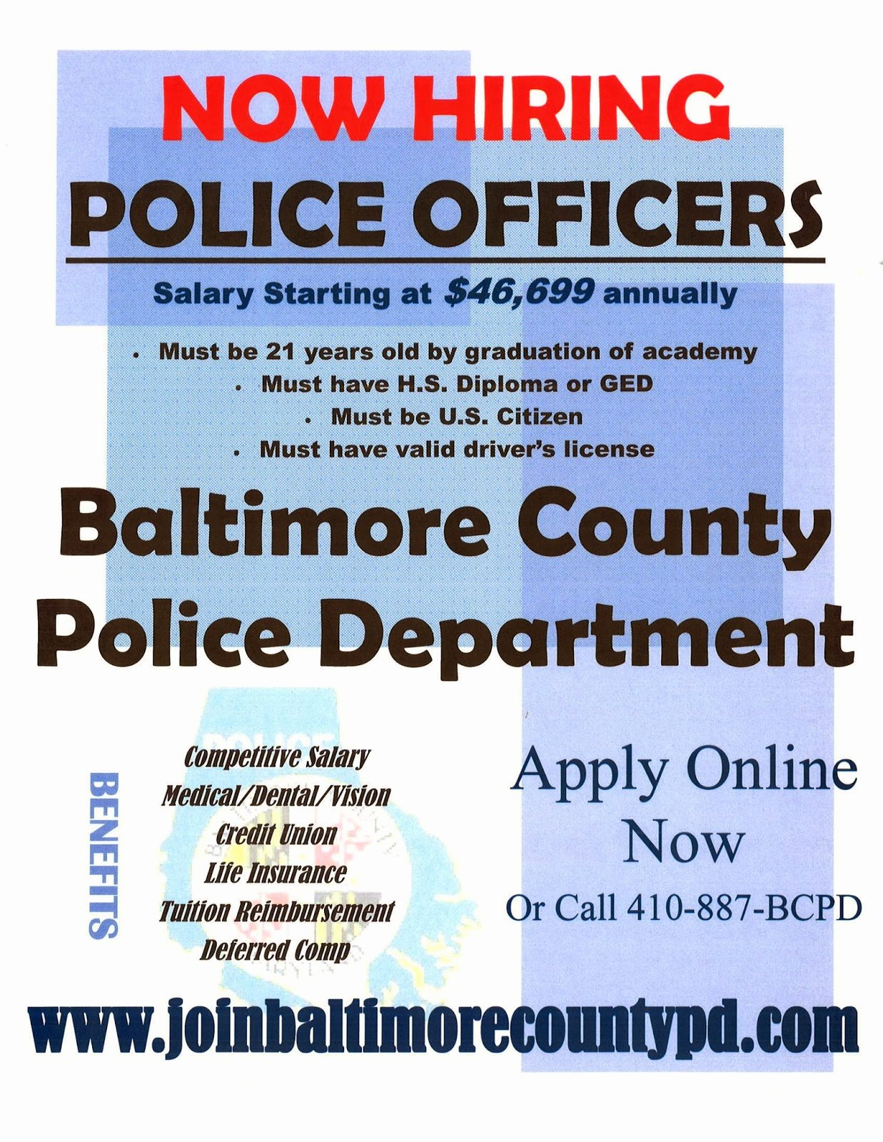 Now Hiring Flyer Template Elegant Ccjs Undergrad Blog Baltimore County Police Department
