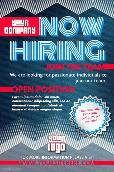 Now Hiring Flyer Template Lovely Hiring Poster Templates