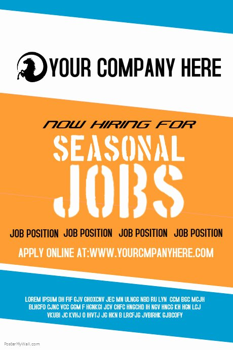 Now Hiring Template Free Lovely Seasonal Jobs Template