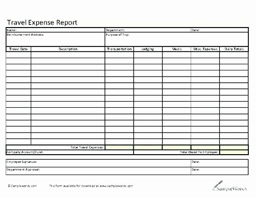 Numbers Expense Report Template Elegant 15 Expense Report form