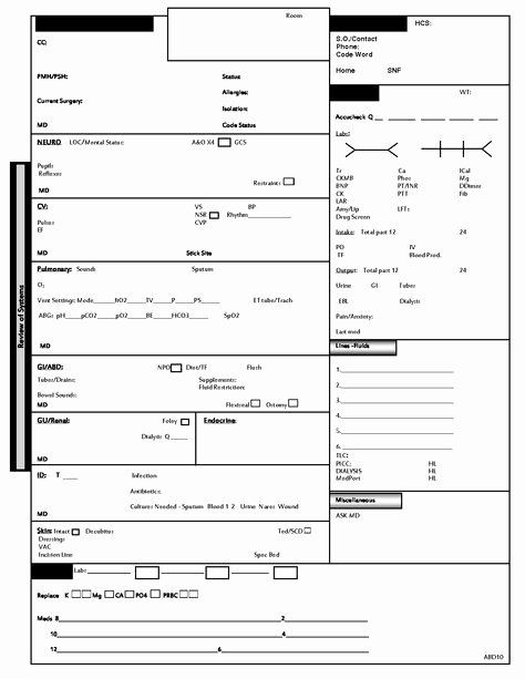 Nurse Flow Sheet Template Unique 50 Fresh Icu Flow Chart
