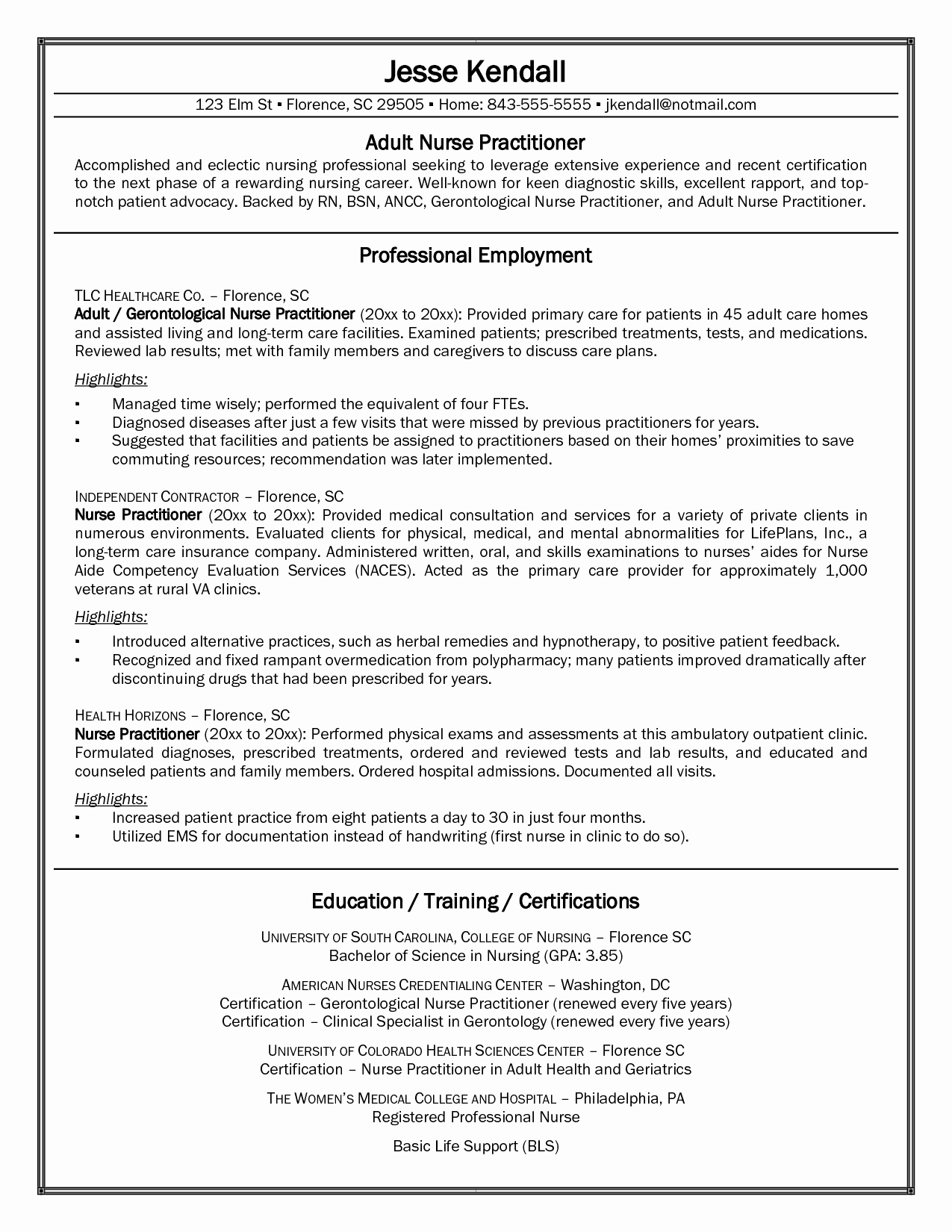 Nurse Practitioner Cv Template Beautiful Cv Examples Nurse Practitioner Cv