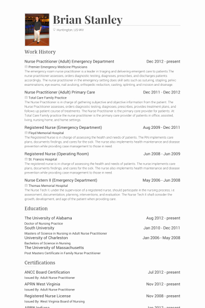 Nurse Practitioner Cv Template Best Of Er Nurse Resume
