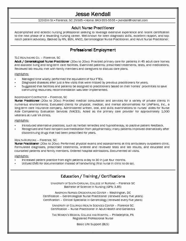 Nurse Practitioner Cv Template Best Of Free Nurse Practitioner Cover Letter Sample