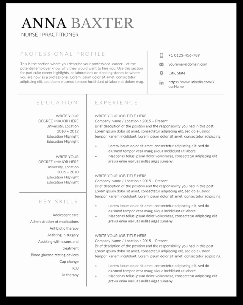 Nurse Practitioner Cv Template Lovely 10 Premium Nurse Practitioner Resume Templates Sample